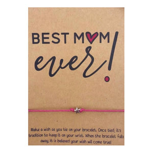 Best Mom Ever Wish Card and Bracelet