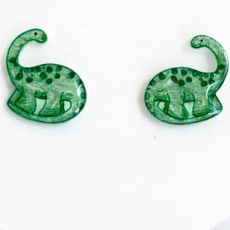 Brachiosaurus Dinosaur Earrings