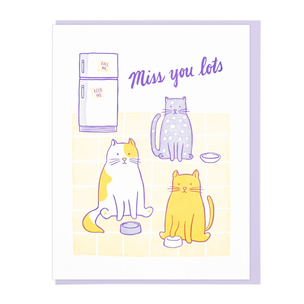 Miss You Cats - Greeting Card