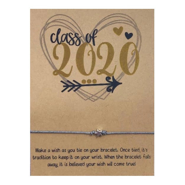 Class Of 2020 (Heart) Wish Card and Bracelet