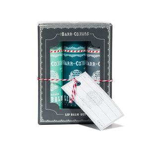 Barr-Co: 3pc Lip Balm Trio Gift Set - Cool
