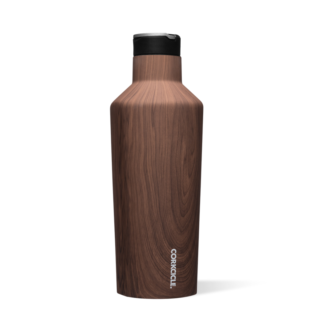 Corkcicle 40oz Sport Canteen Walnut Wood
