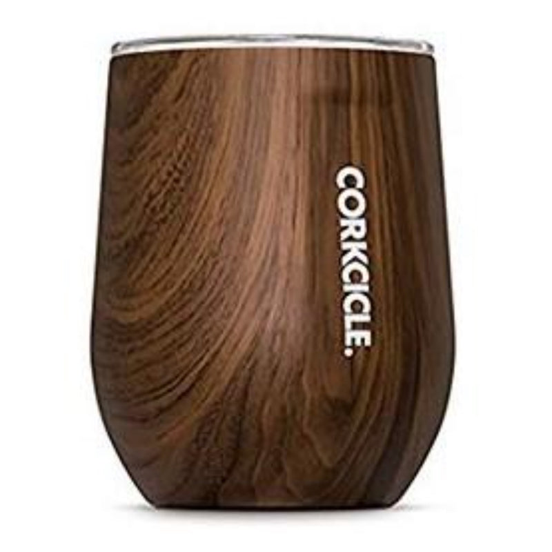 Corkcicle 12oz Stemless Walnut Wood Wine Cup