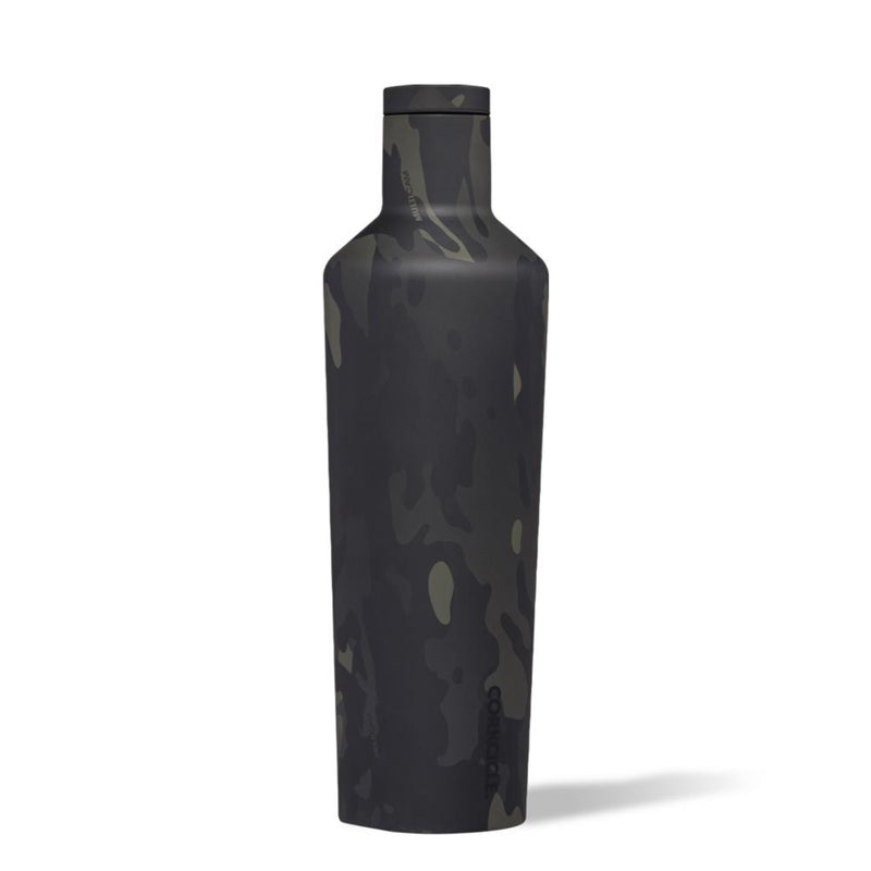Corkcicle 16oz Canteen Black Camo