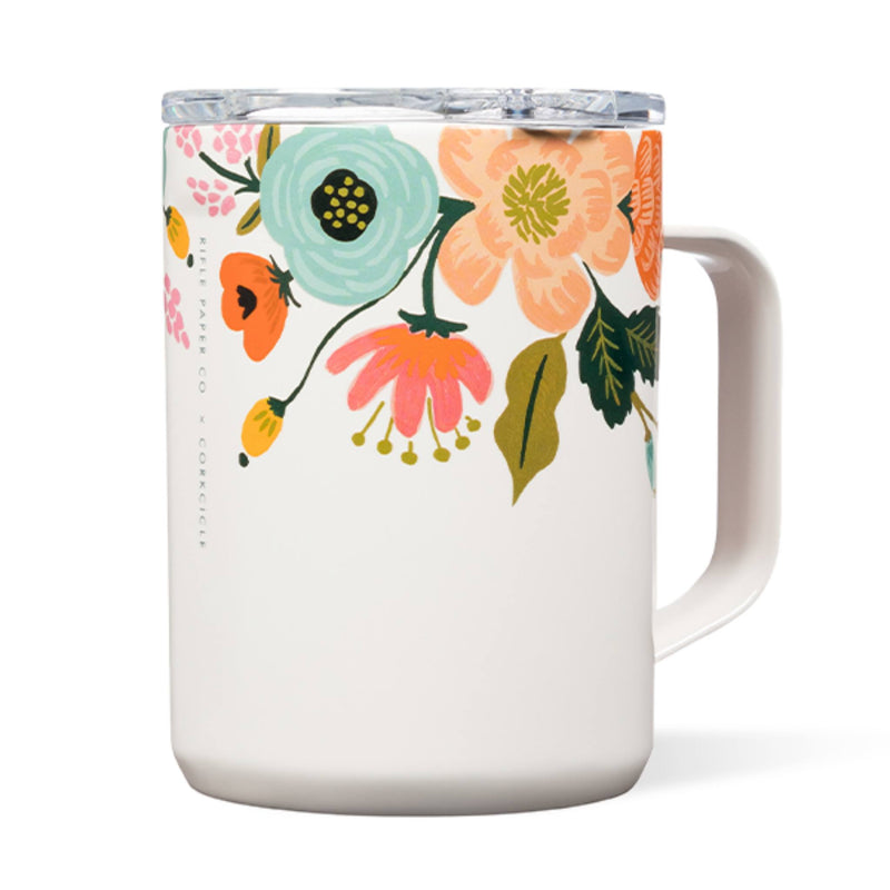 Corkcicle 16oz Coffee Mug Rifle Paper Gloss Cream Lively Floral