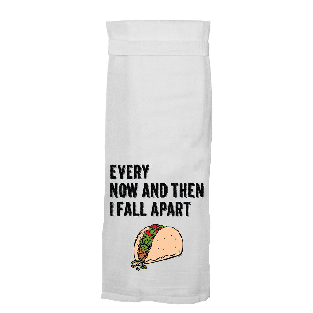 Every Now And Then I Fall Apart - Lg White Hand/Dish Towel
