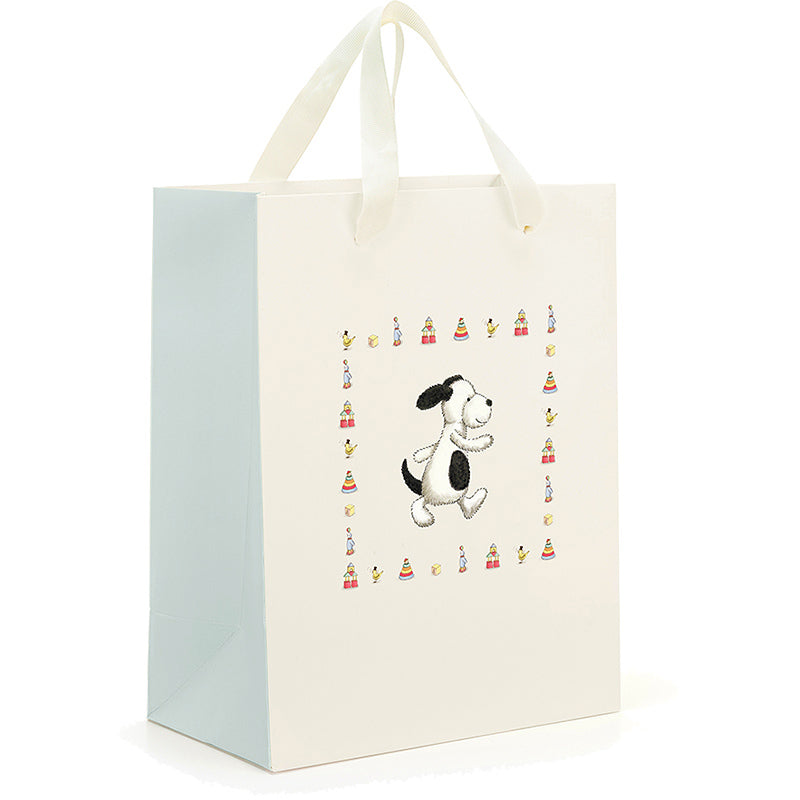 Jellycat Medium Bashful Puppy Gift Bag