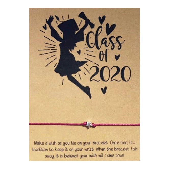 Girl Class Of 2020 Wish Card and Bracelet