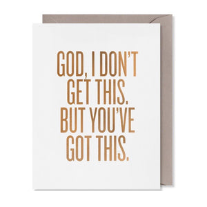 God, I don't Get This - Greeting Card