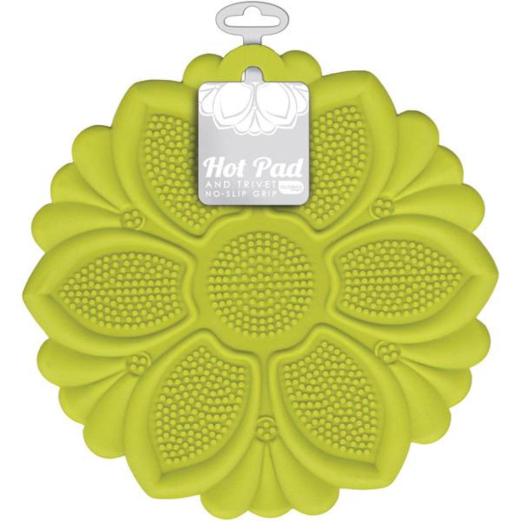 Hot Pad and Trivet, No-Slip Grip - Green