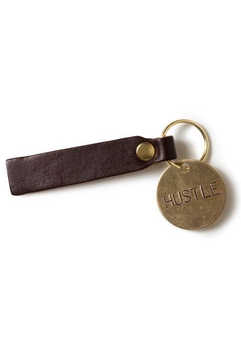 HUSTLE Brass Key Tag