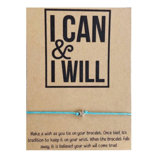 I Can & I Will Wish Card and Bracelet