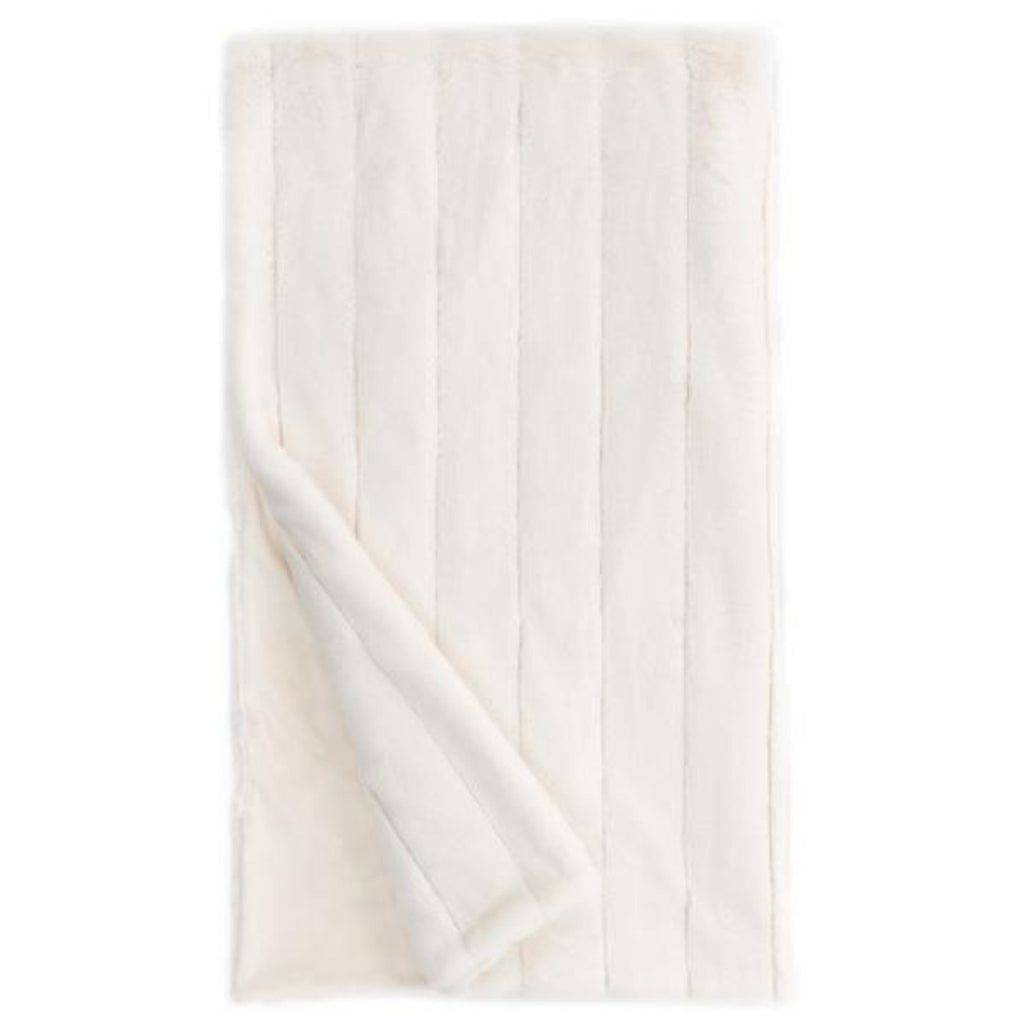 "Ivory Posh Faux Fur 60"" x 72"" Throw"