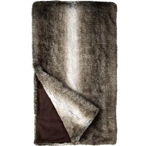 "Grey Rabbit Faux Fur 60"" X 60""Throw"