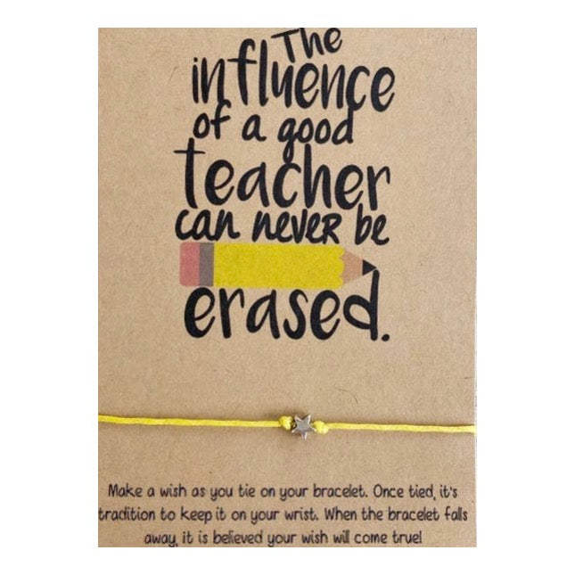 Influence of A Good Teacher Wish Card and Bracelet