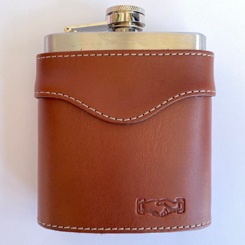 Leather Chestnut Brown Flask