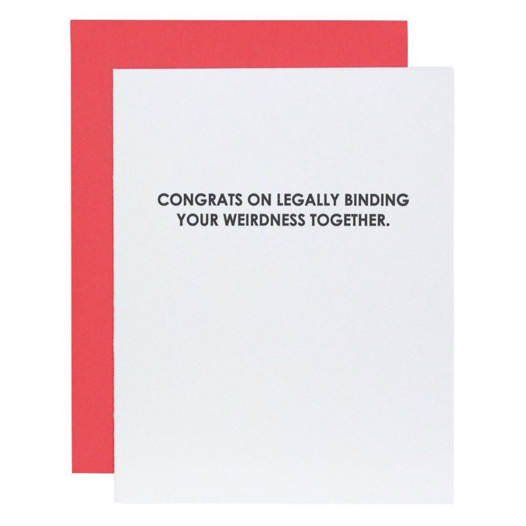 Congrats In Legally Binding Weirdness - Greeting Card