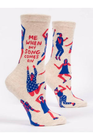 Me When My Song Comes On Women's Crew Socks