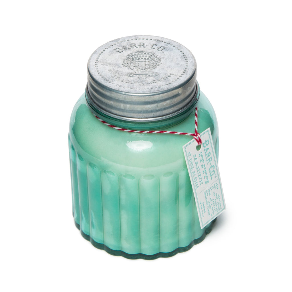 Barr-Co Apothecary Jar Candle: Marine