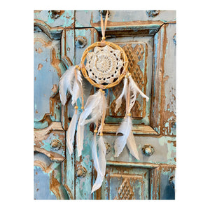 Mini Beaded and Feathered Dream Catcher