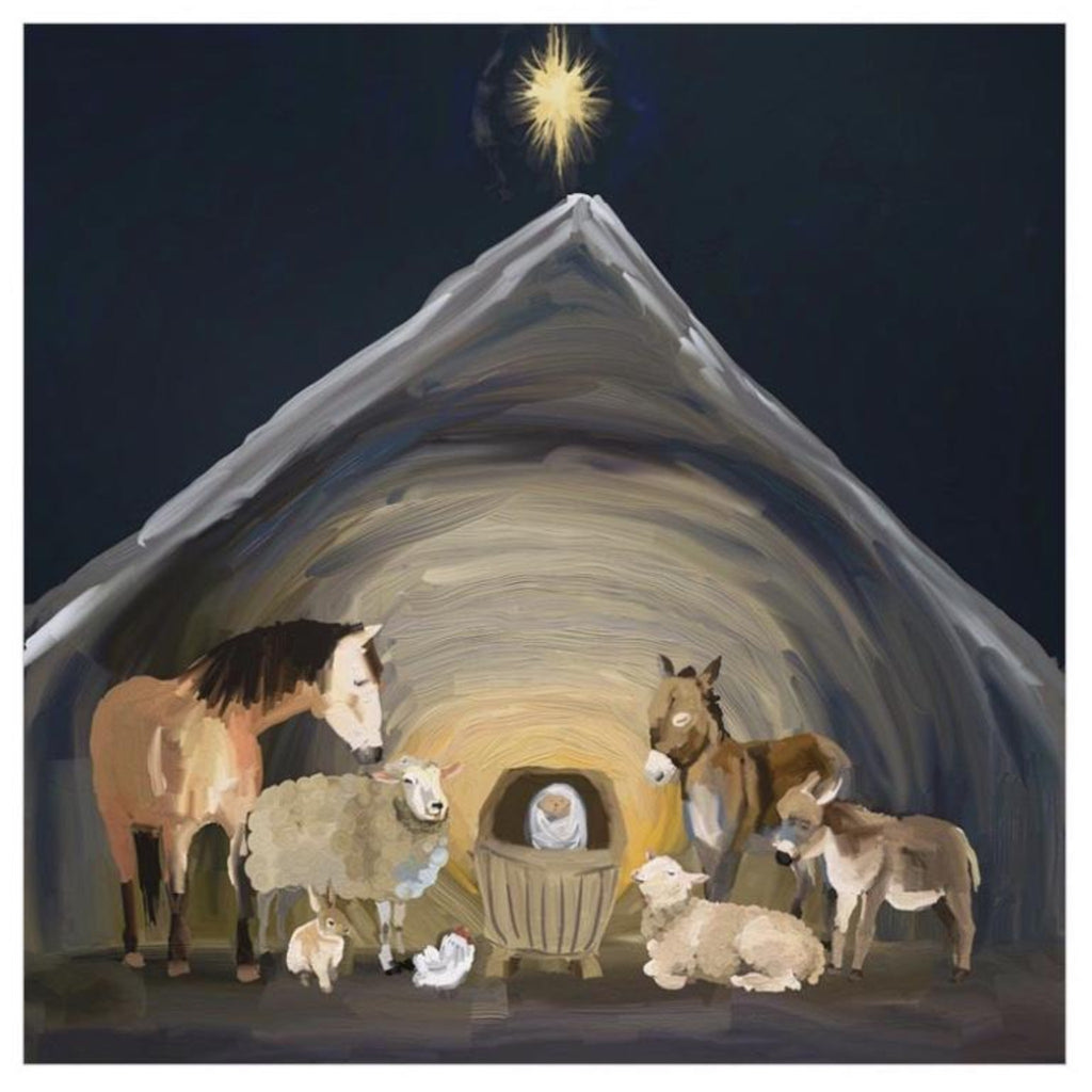 Nativity Manger Canvas Wall Art 18x18