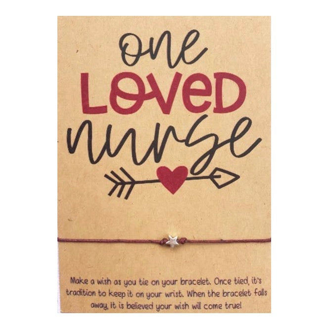 One Loved Nurse Wish Card and Bracelet