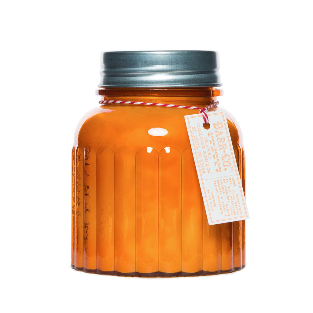 Barr-Co Apothecary Jar Candle: Blood Orange Amber