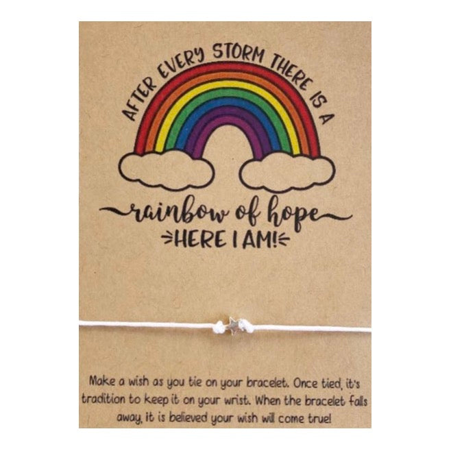 After Every Storm There is A Rainbow of Hope Baby Wish Card