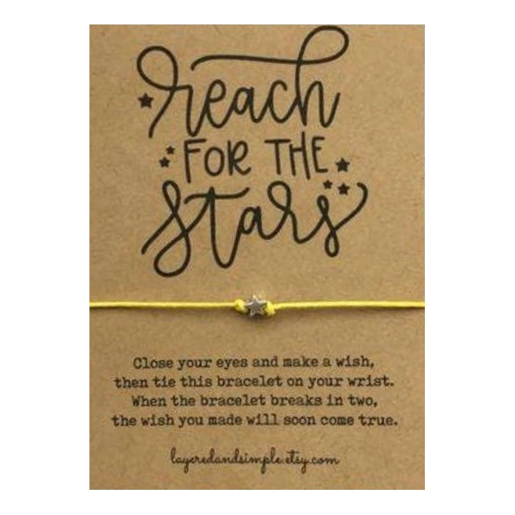 Reach For The Stars Wish Card and Bracelet