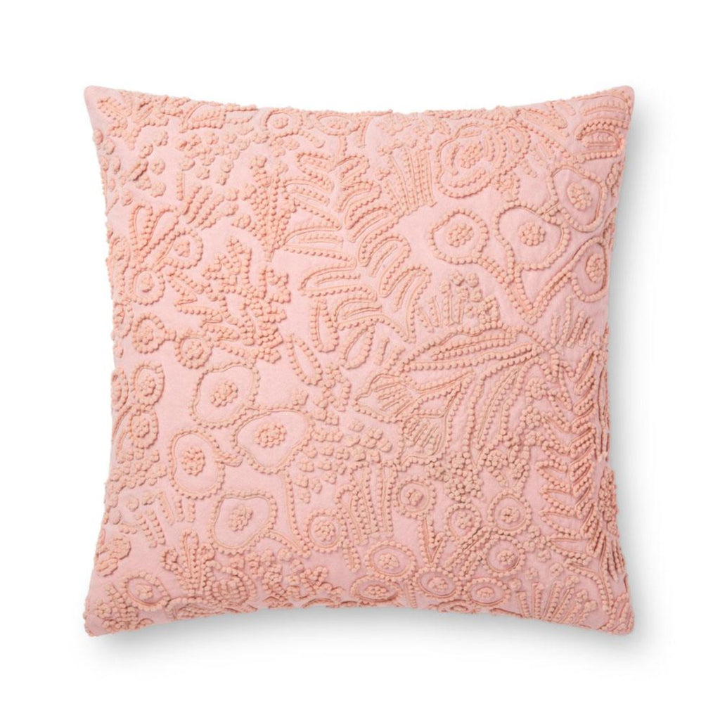 "Rifle Paper Co: Rose Tapestry Embroidered Floral Beaded Pillow 22"" X 22"""