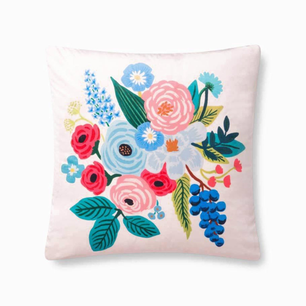 "Rifle Paper Co: Garden Party Velvet Pillow - Blush 22"" X 22"""