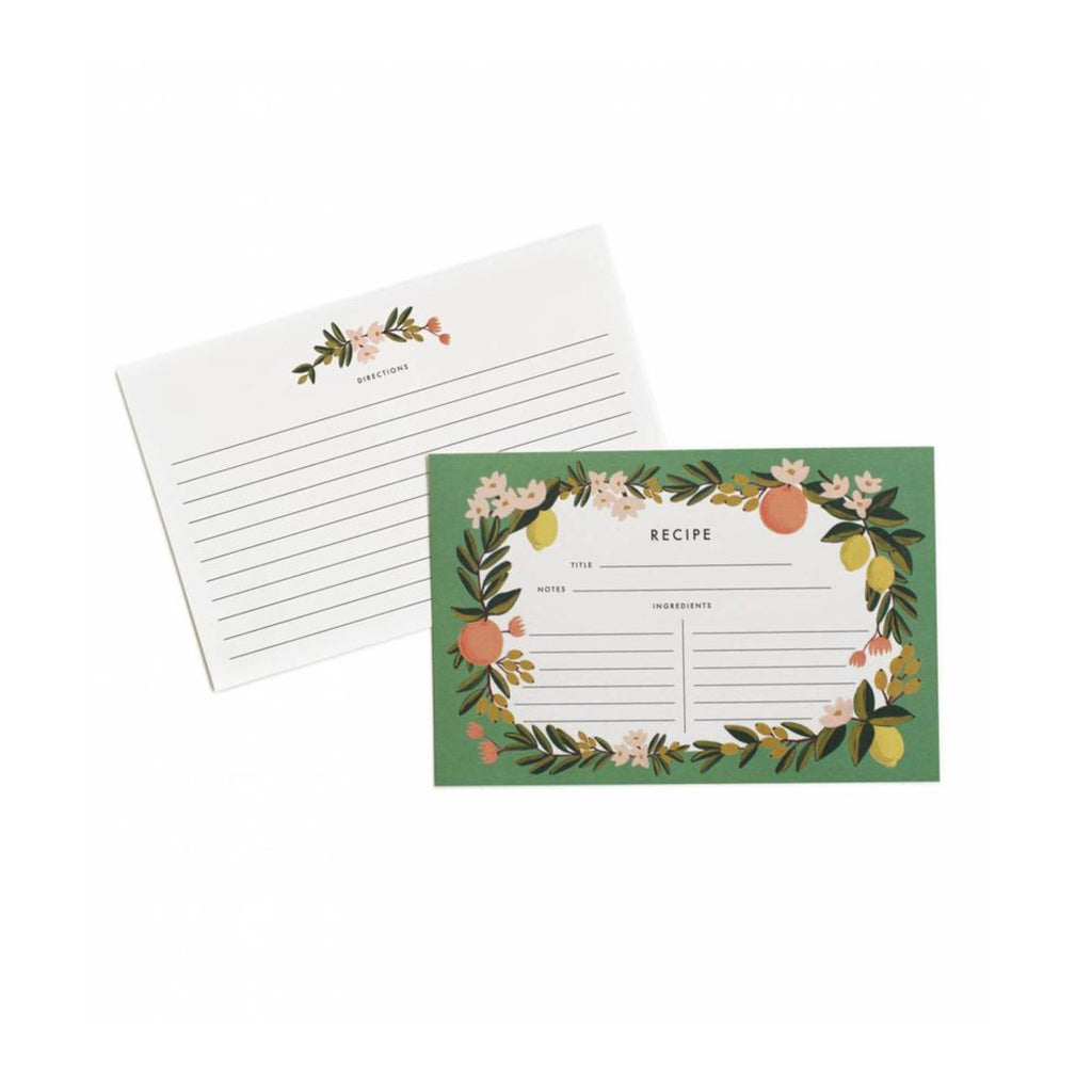 Rifle Paper Co: Citrus Floral Recipe Cards