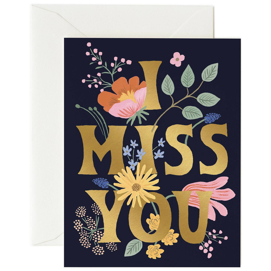 I Miss You Card - Greeting Card