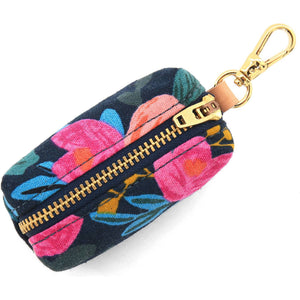 Rosa Floral Navy Waste Bag Holder