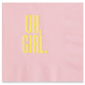 Oh Girl Cocktail Napkins