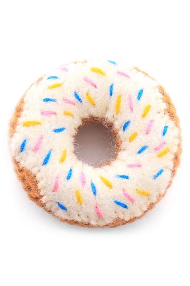 Vanilla Donut Cat Toy