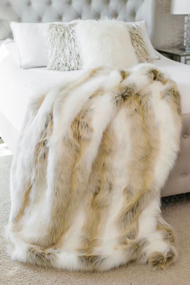 "Arctic Fox Limited Edition Faux Fur Throw 60""x60"""