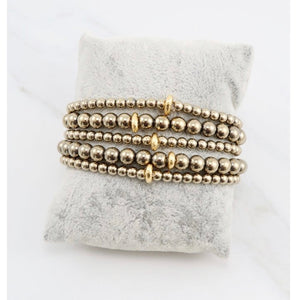Sachi Gold Set of 5 Bracelets