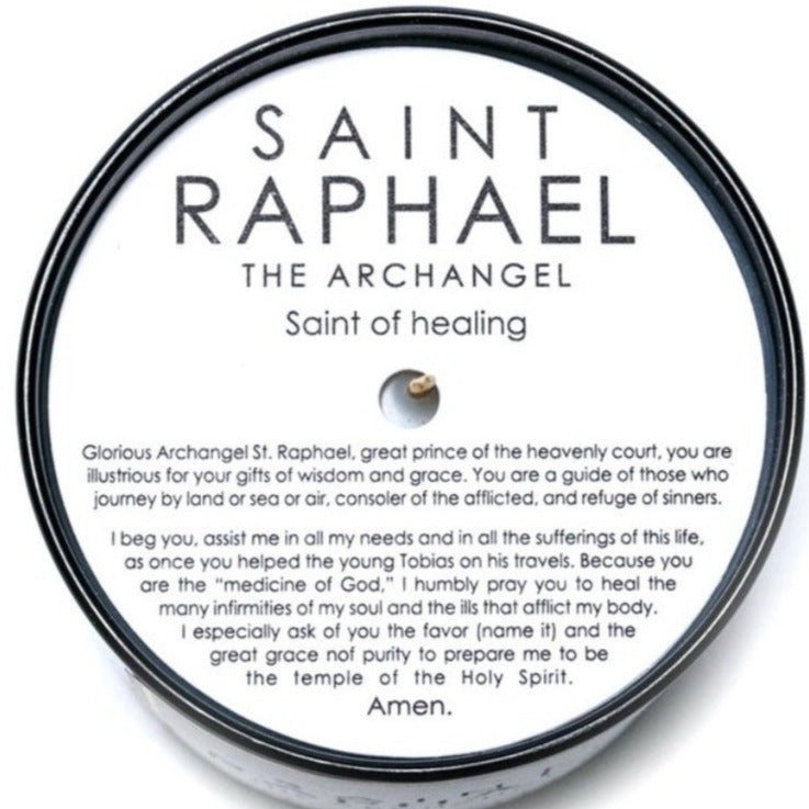 SAINT Raphael the Archangel Candle Mount Ararat 8.5oz