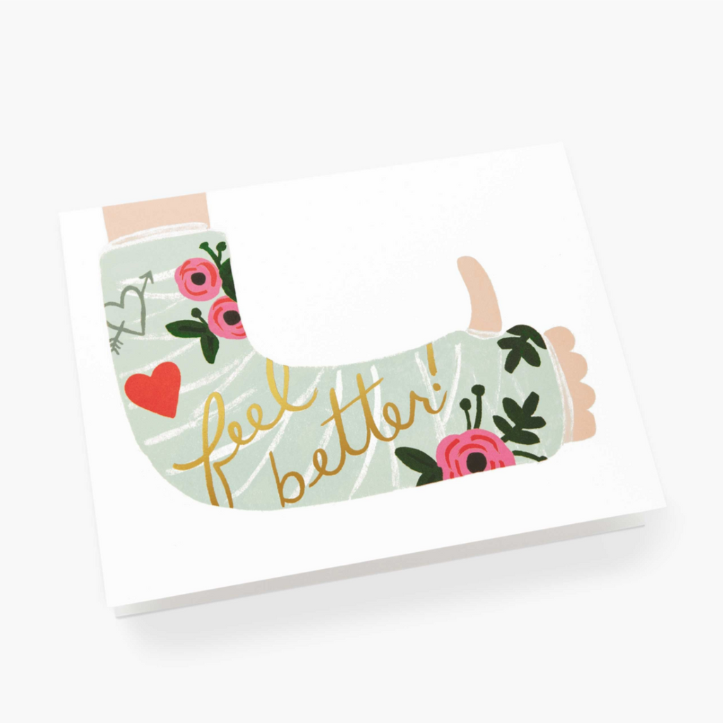 Feel Better Cast - Greeting Card