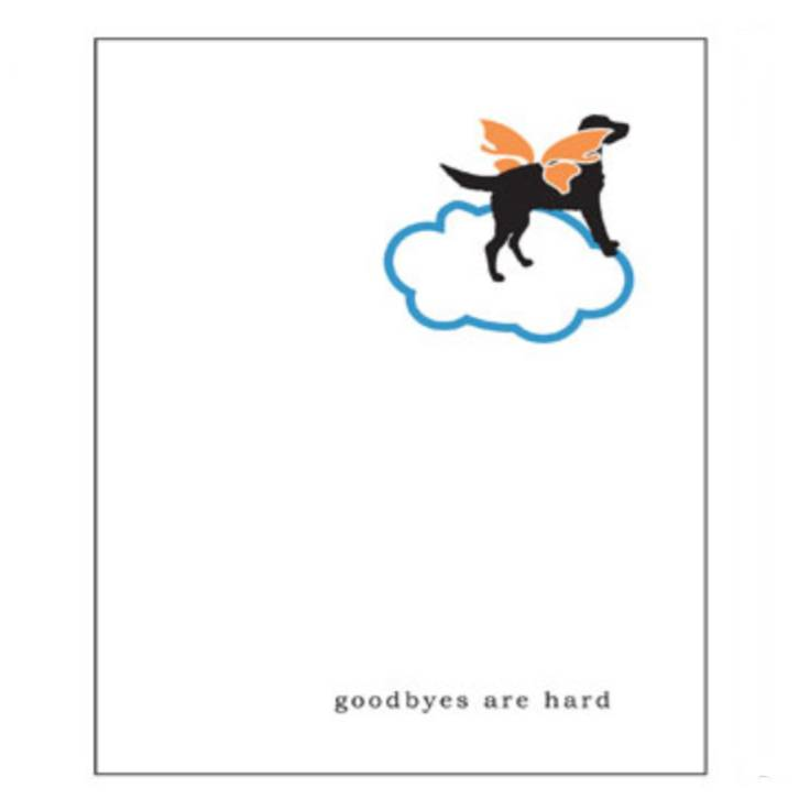 Pet Loss Sympathy Dog - Greeting Card