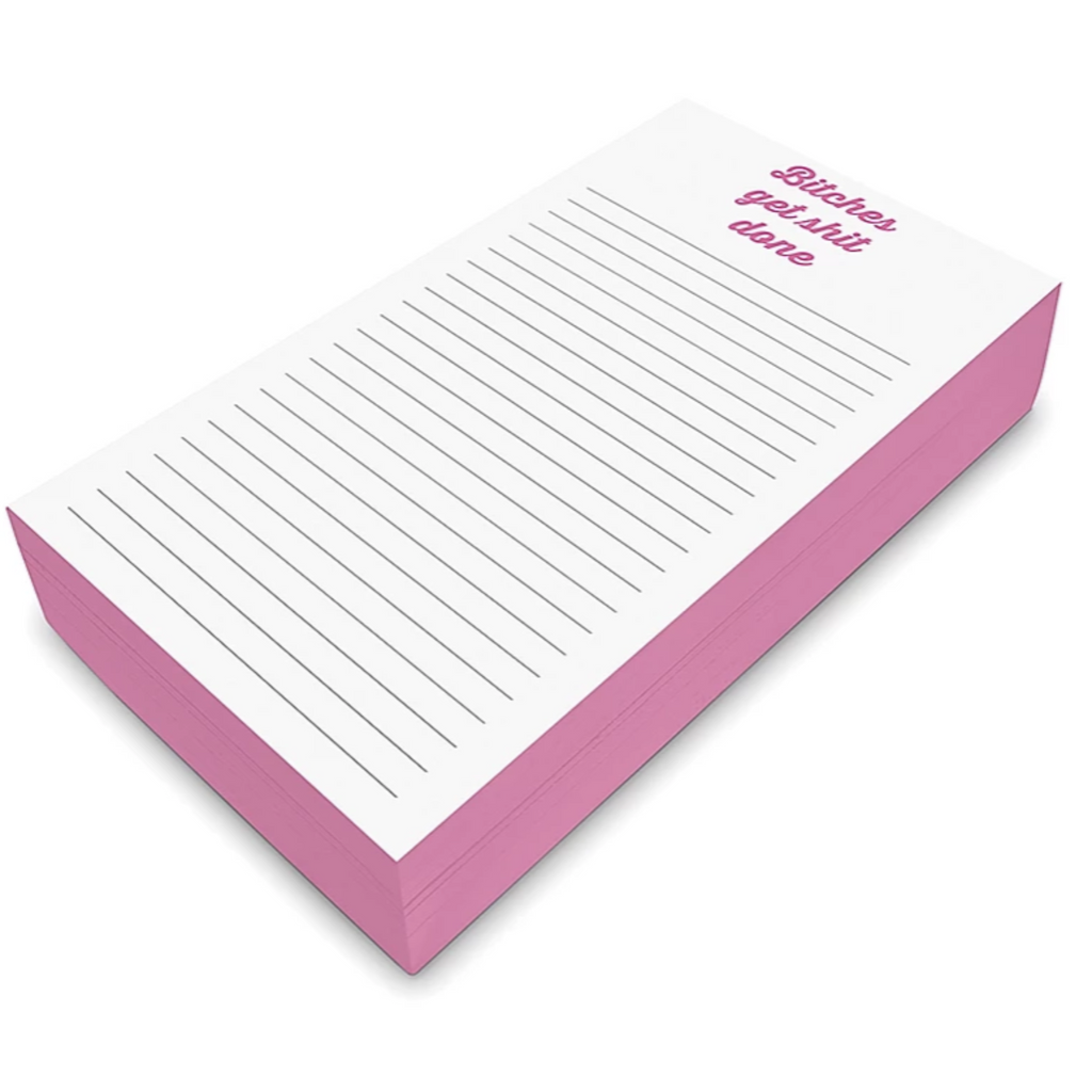 B!tches Get Sh!t Done - Chunky Notepad