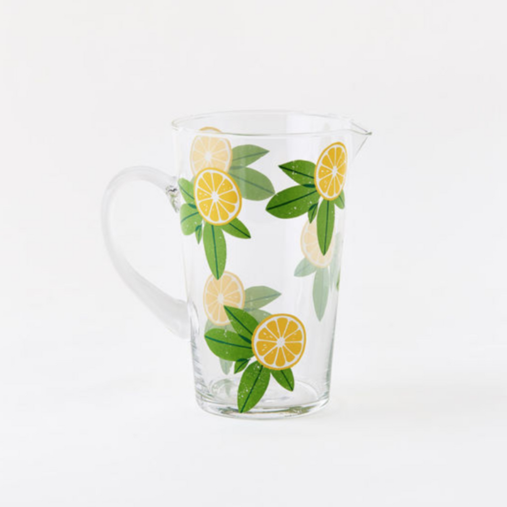 Glass Lemon Pitcher