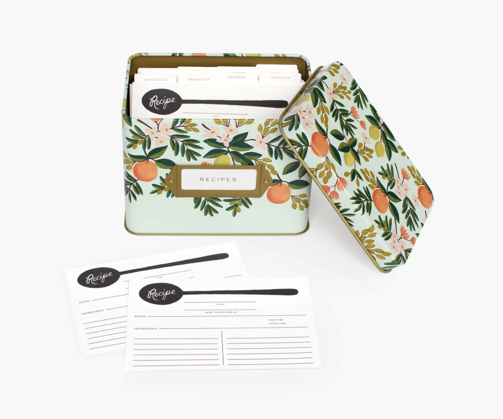 Rifle Paper Co: Citrus Floral Recipe Box