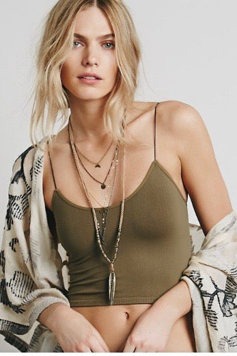 Free People V-Neck Skinny strap Brami