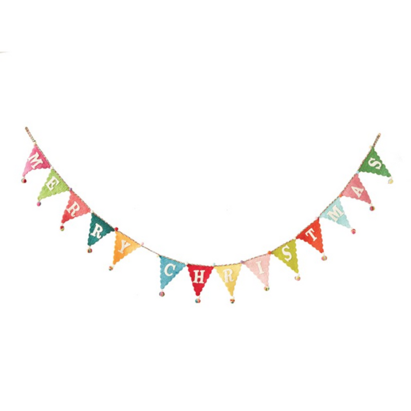Customer Favorite! Rainbow Colors Merry Christmas Banner