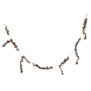 Pinecone Garland Gold