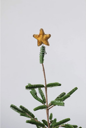 Gold Velvet Mini Star Tree Topper