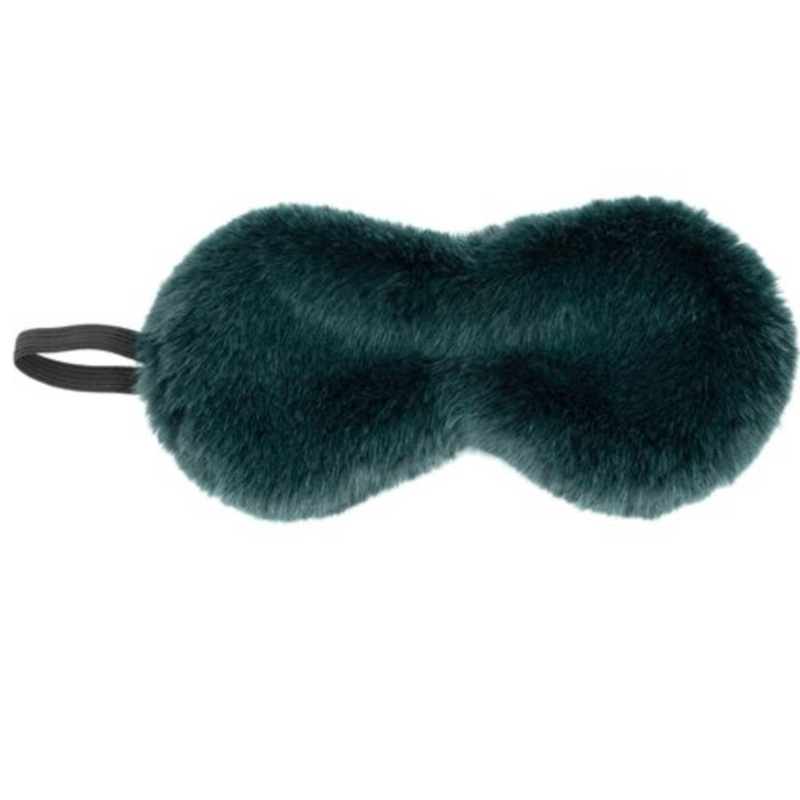Eye Mask: Emerald Mink Faux Fur