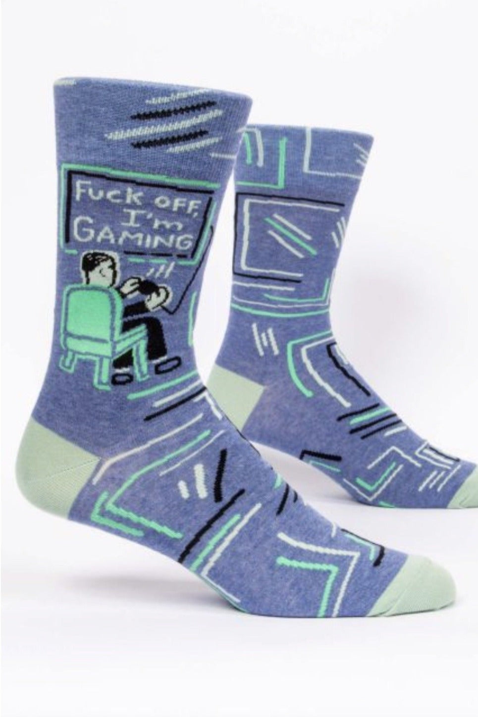 Fuck Off, I'm Gaming Men's Crew Socks